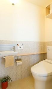 トイレにモザイクタイル