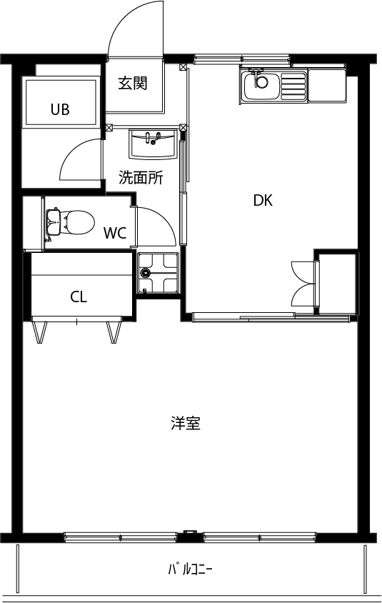 青山パーク105仲介用平面図