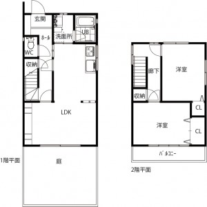 1・2階平面図