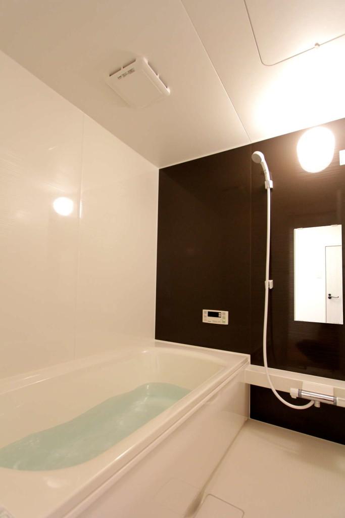 一戸建ての大きさのバスルーム